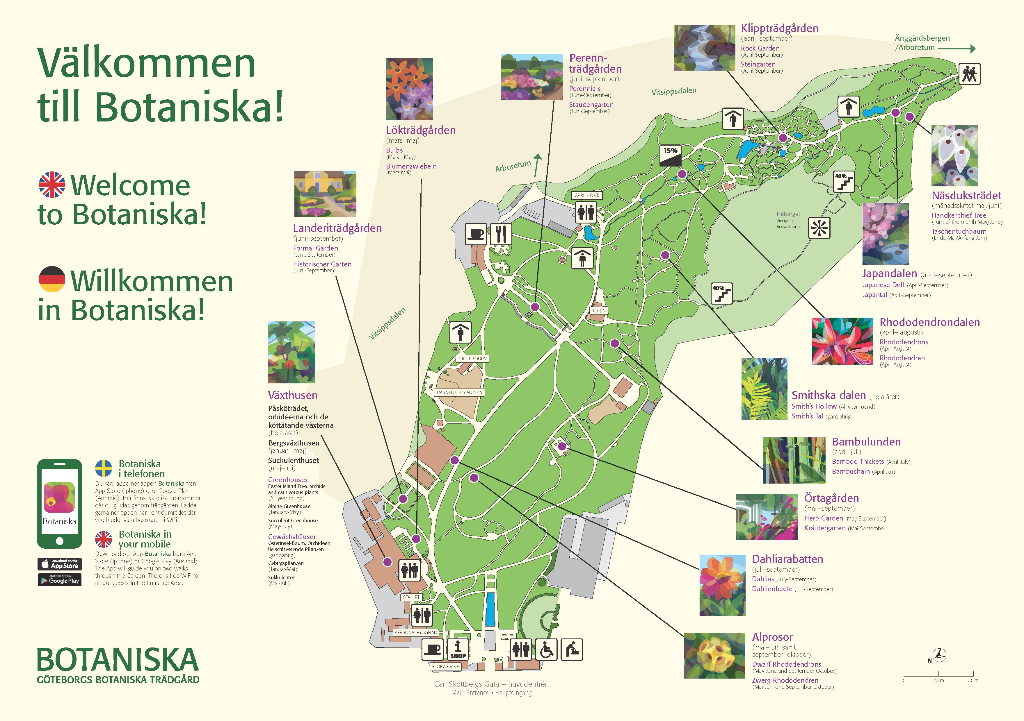 apslätten göteborg karta Garden & Greenhouses   Public_Botaniska apslätten göteborg karta